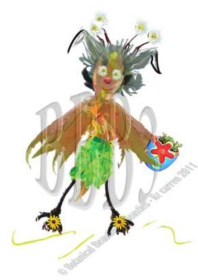"Milly in a Birdelli Original ""Basil Skirt"""