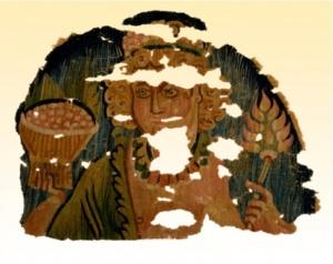 Fragmentary roundel- Egypt, Late Roman Period, 4th century