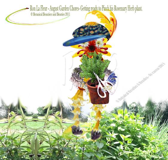 Ron La Fleur Pinching-Rosemary